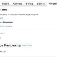アラスカ航空マイレージ登録
