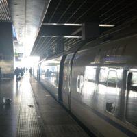 中国新幹線ホーム