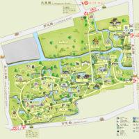 上海植物園地図